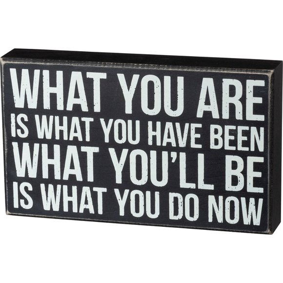 What You Are.. What You/'ll Be is What You Do Now Primitives by Kathy Box Sign